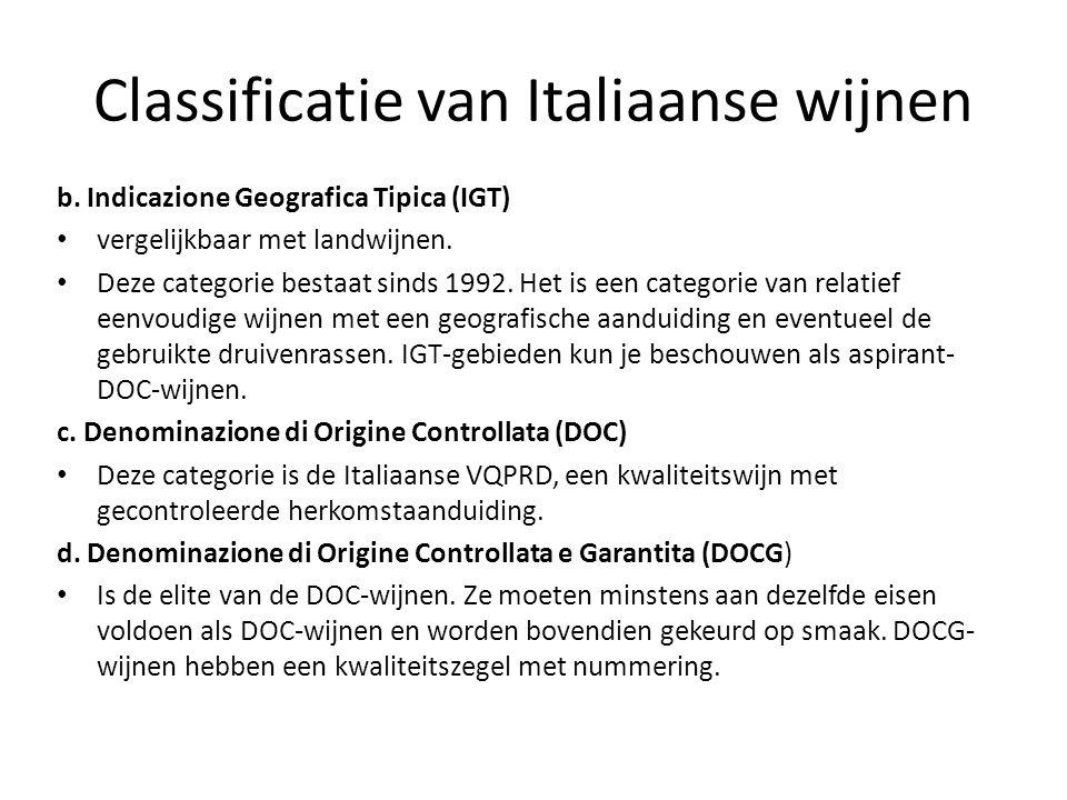 Classificatie van Italiaanse wijnen
