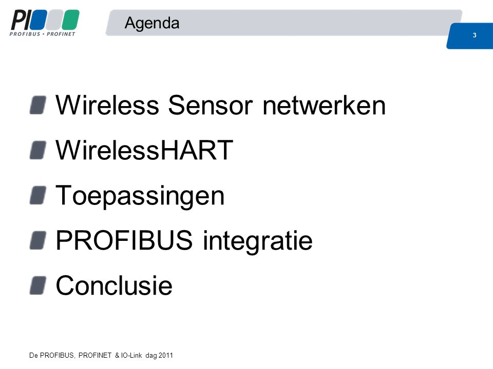 Wireless Sensor netwerken WirelessHART Toepassingen