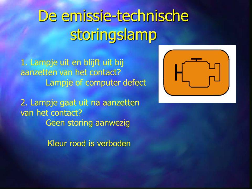 De emissie-technische storingslamp