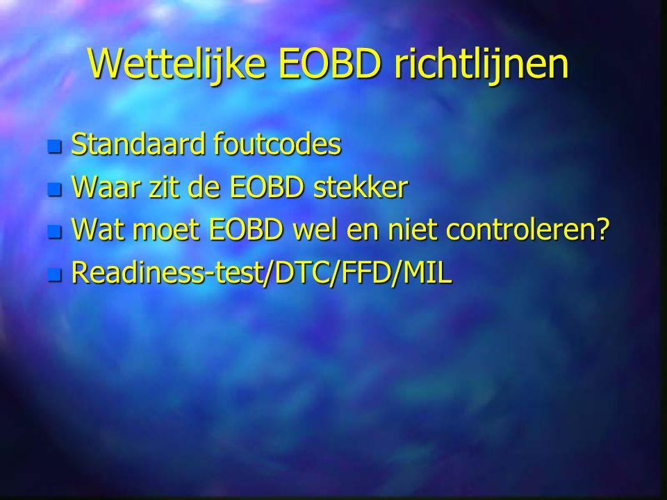 Wettelijke EOBD richtlijnen