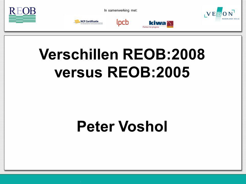 Verschillen REOB:2008 versus REOB:2005