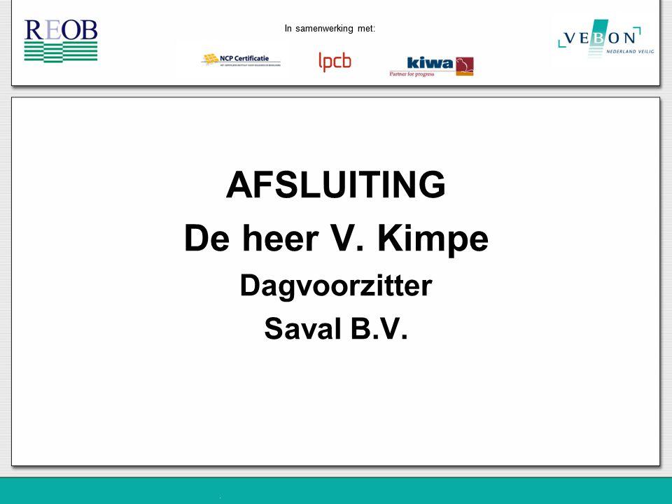 AFSLUITING De heer V. Kimpe