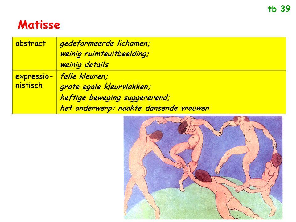 Matisse tb 39 abstract gedeformeerde lichamen;