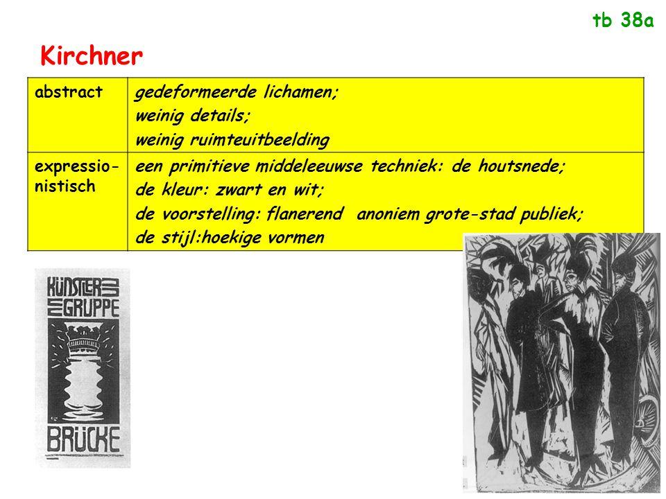 Kirchner tb 38a abstract gedeformeerde lichamen; weinig details;