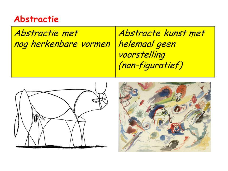 Abstractie Abstractie met nog herkenbare vormen.