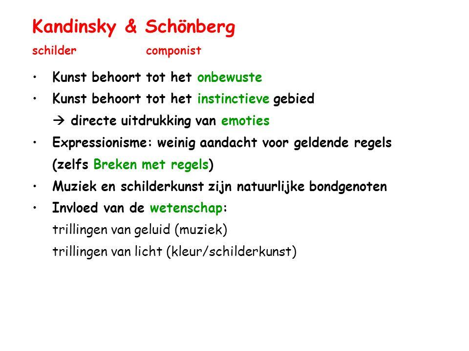 Kandinsky & Schönberg schilder componist