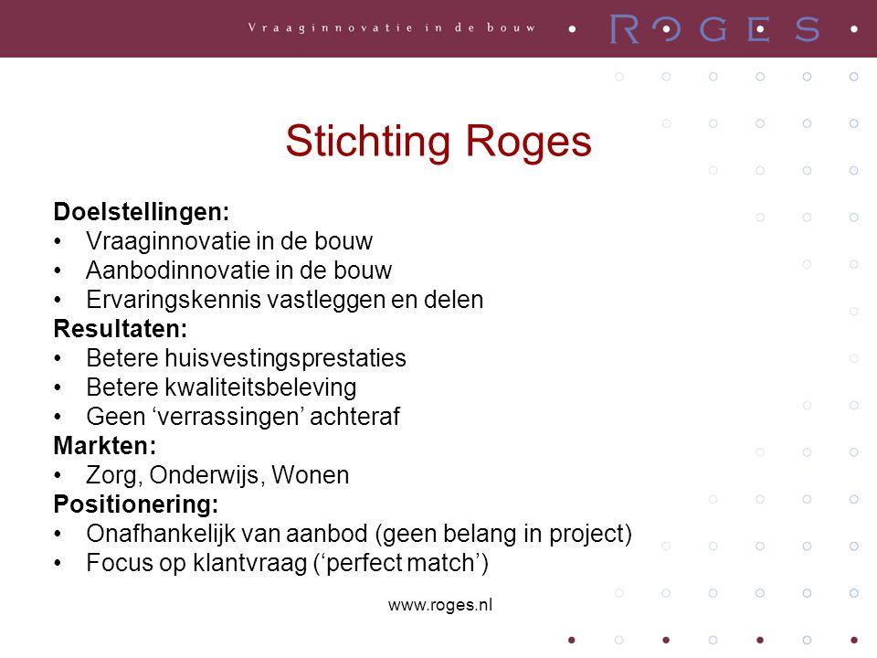 Stichting Roges Doelstellingen: Vraaginnovatie in de bouw