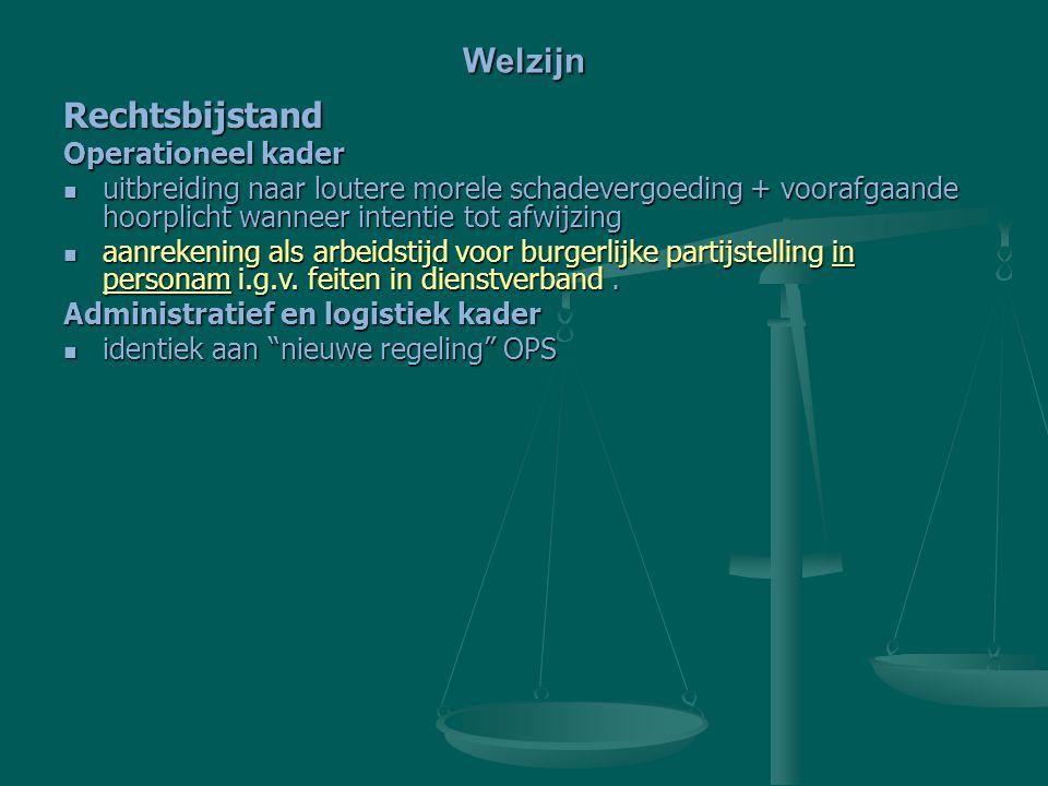 Welzijn Rechtsbijstand Operationeel kader
