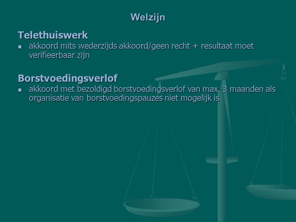 Welzijn Telethuiswerk Borstvoedingsverlof