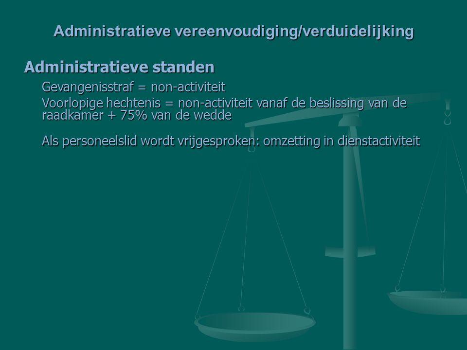Administratieve vereenvoudiging/verduidelijking