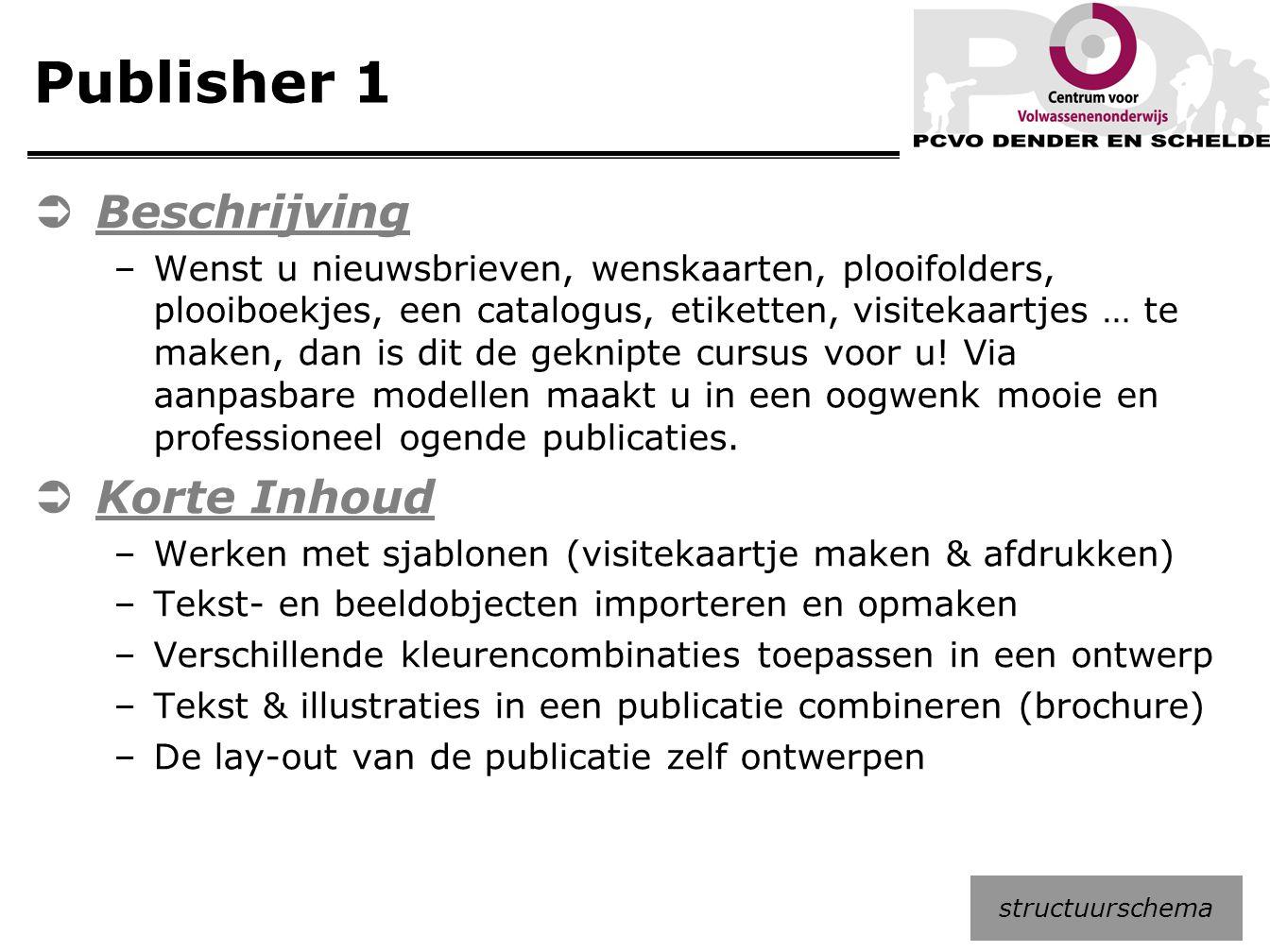 Publisher 1 Beschrijving Korte Inhoud