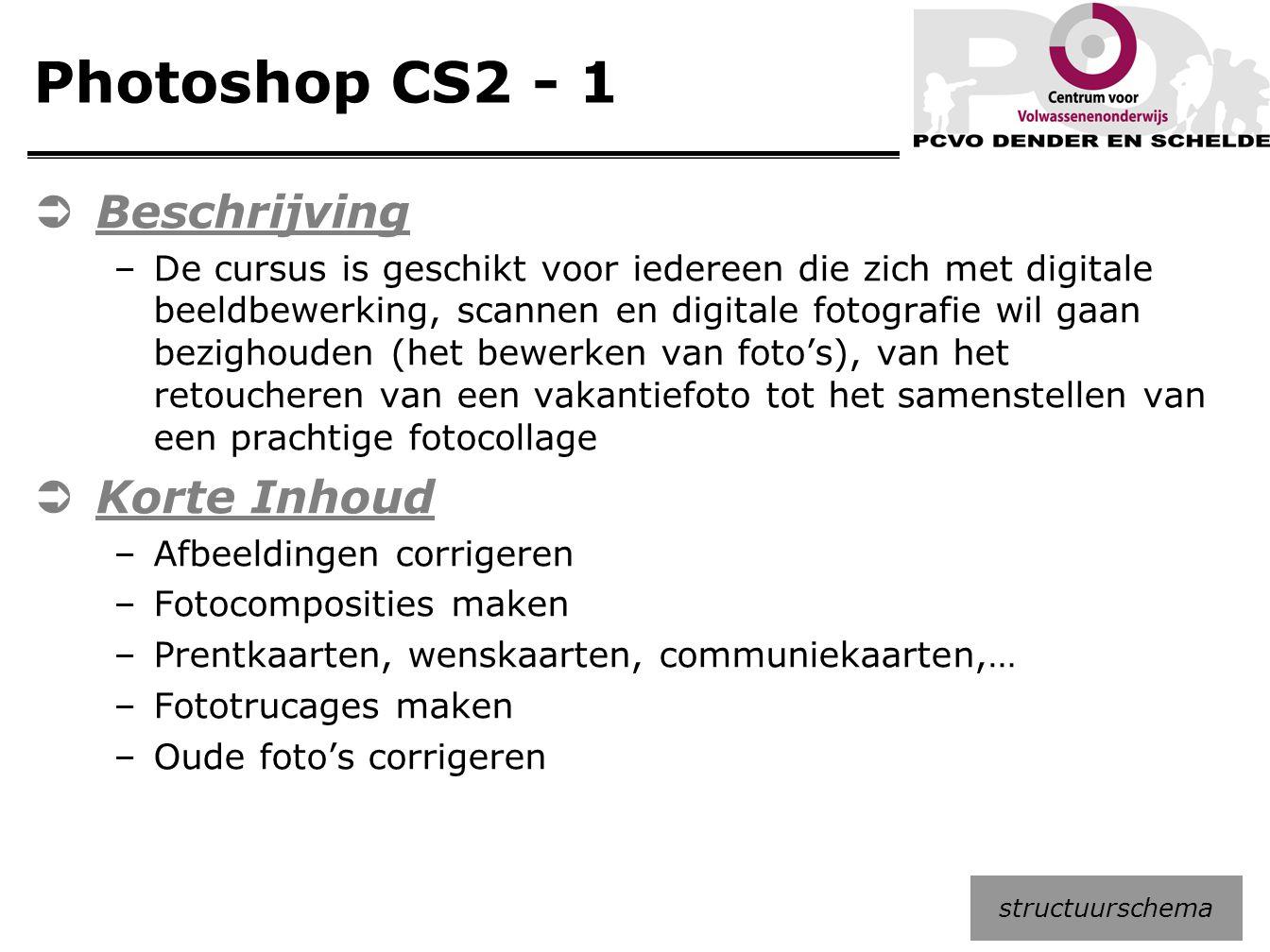 Photoshop CS2 - 1 Beschrijving Korte Inhoud