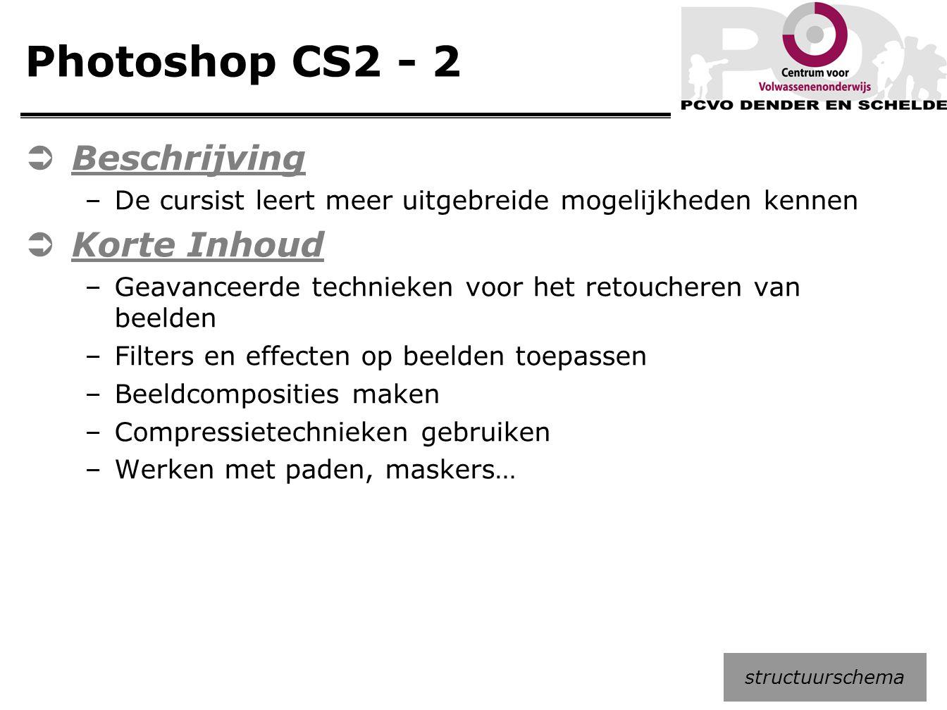 Photoshop CS2 - 2 Beschrijving Korte Inhoud