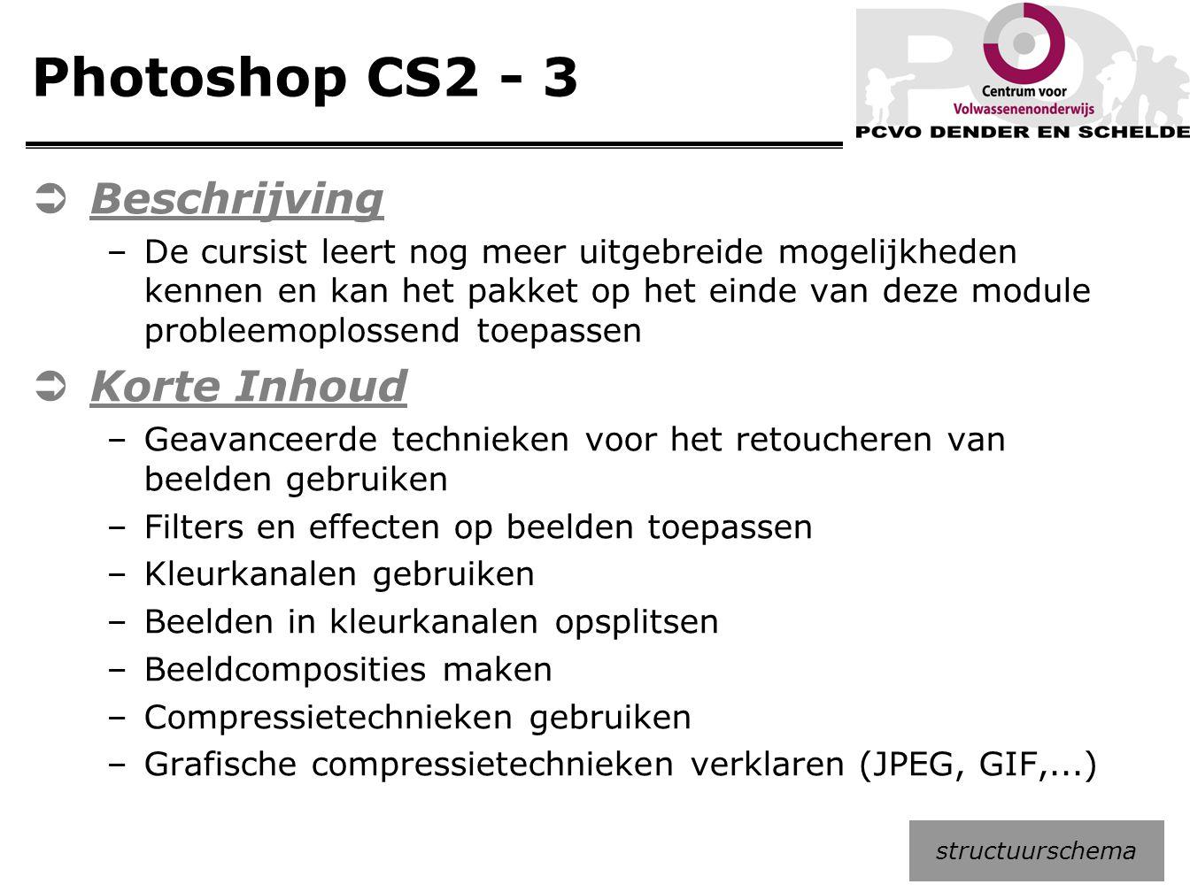 Photoshop CS2 - 3 Beschrijving Korte Inhoud