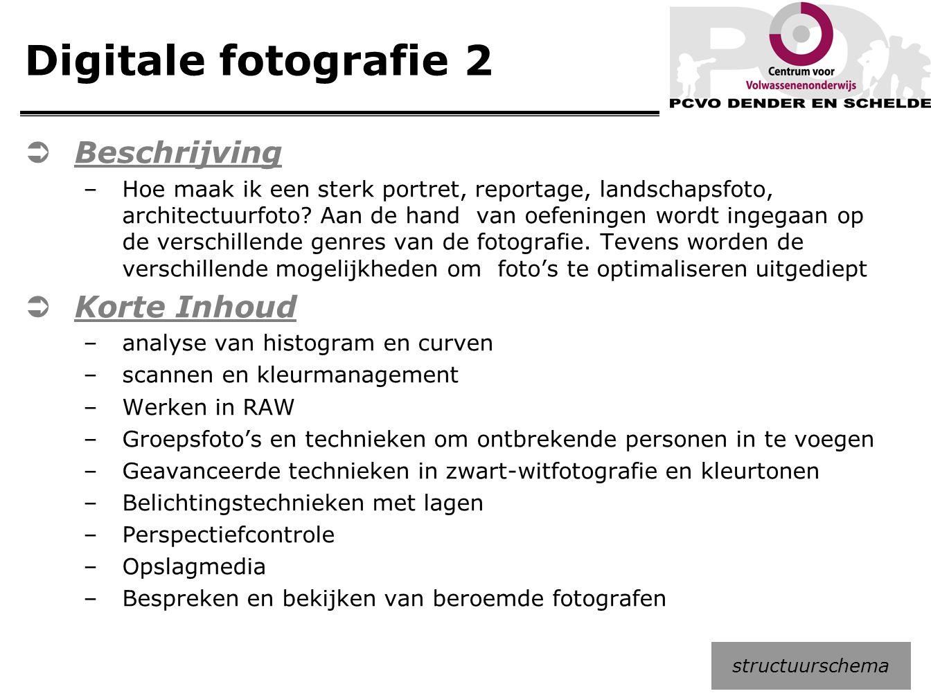Digitale fotografie 2 Beschrijving Korte Inhoud