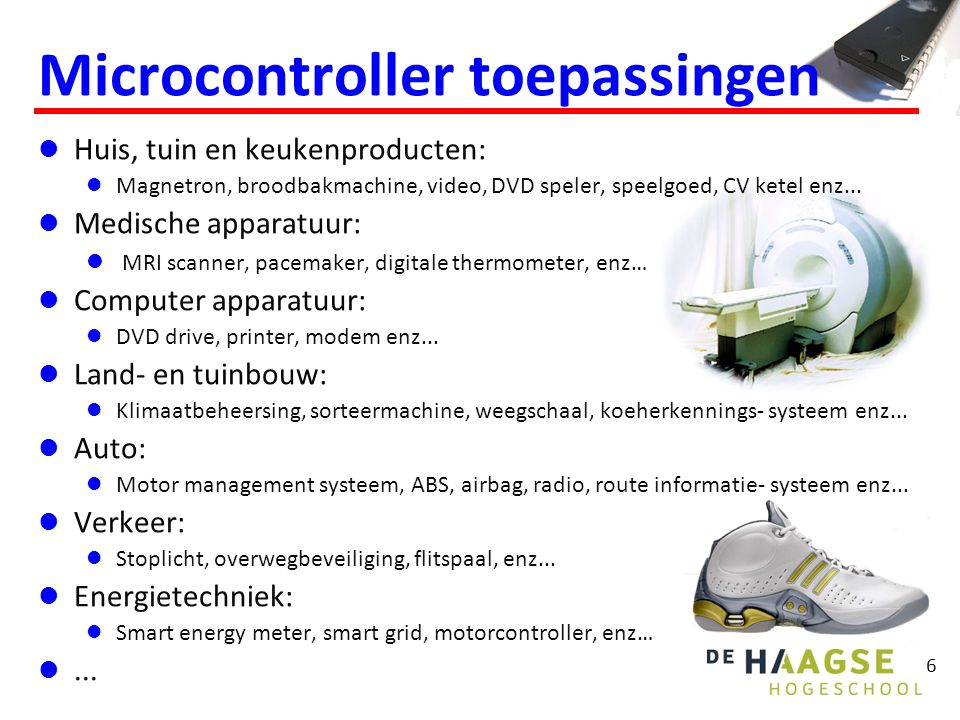 Microcontroller toepassingen
