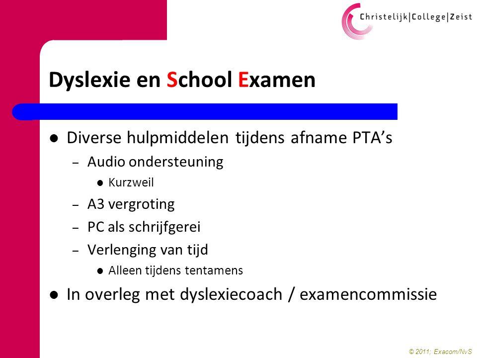 Dyslexie en School Examen