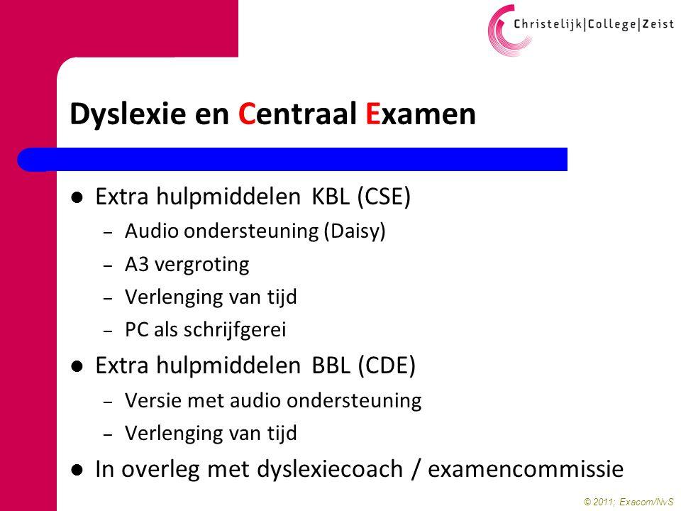 Dyslexie en Centraal Examen