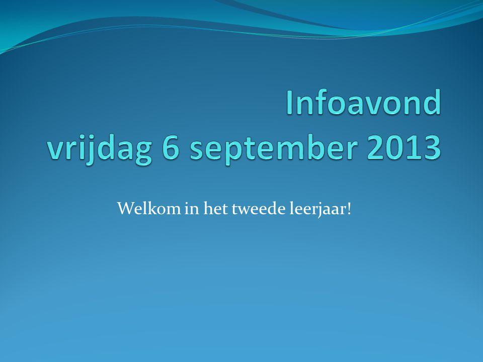 Infoavond vrijdag 6 september 2013