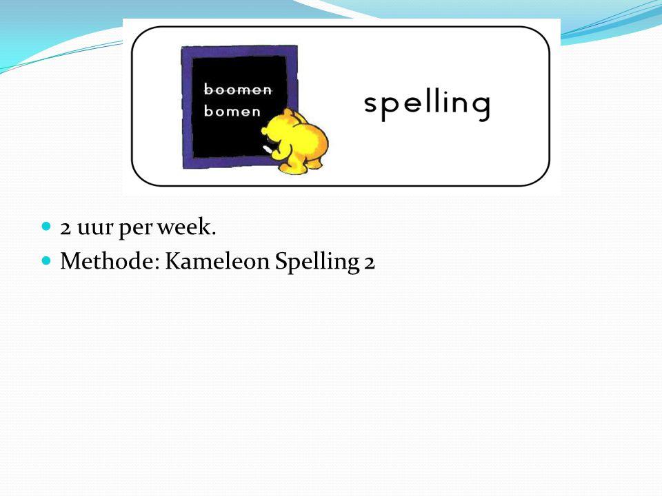 2 uur per week. Methode: Kameleon Spelling 2