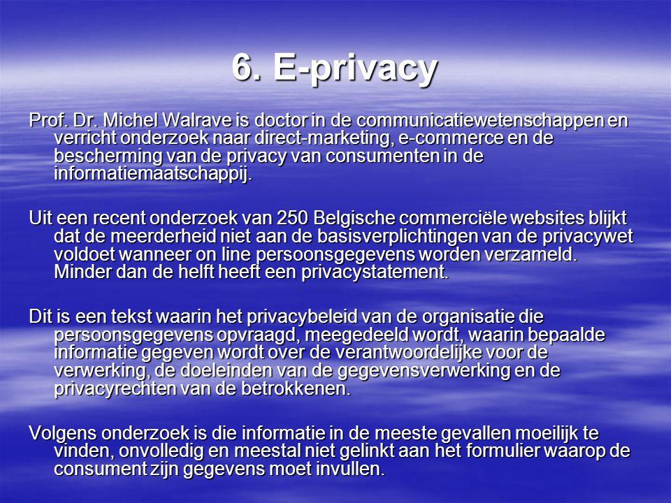 6. E-privacy