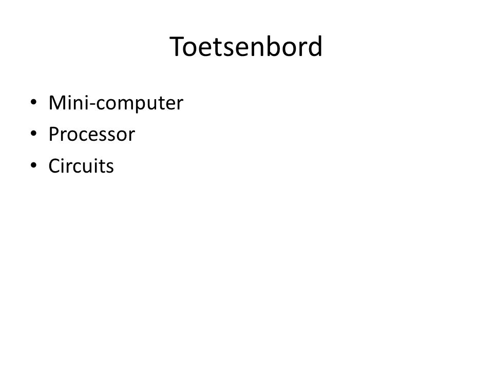 Toetsenbord Mini-computer Processor Circuits