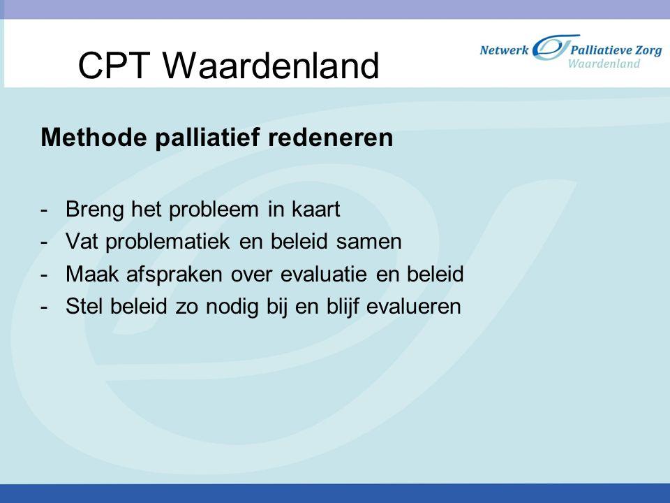 CPT Waardenland Methode palliatief redeneren