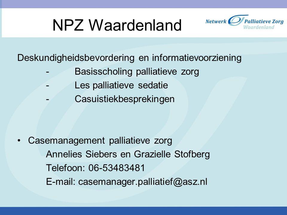 NPZ Waardenland Deskundigheidsbevordering en informatievoorziening