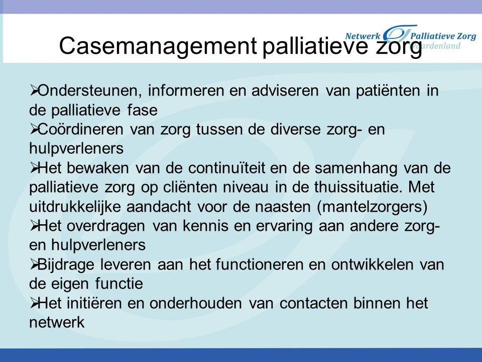 Casemanagement palliatieve zorg