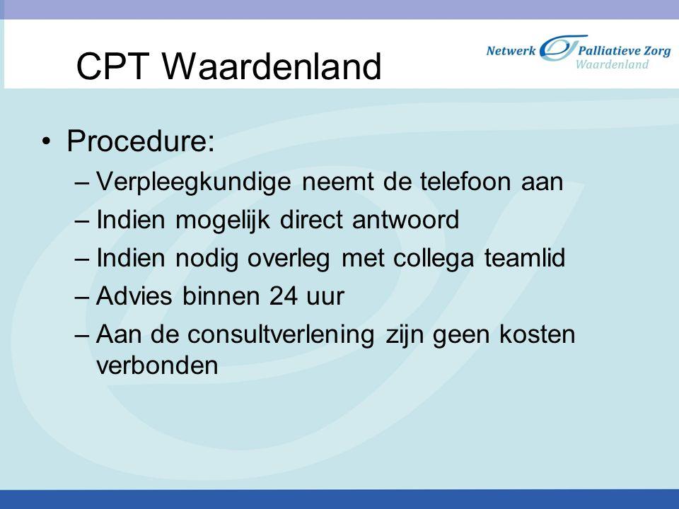 CPT Waardenland Procedure: Verpleegkundige neemt de telefoon aan