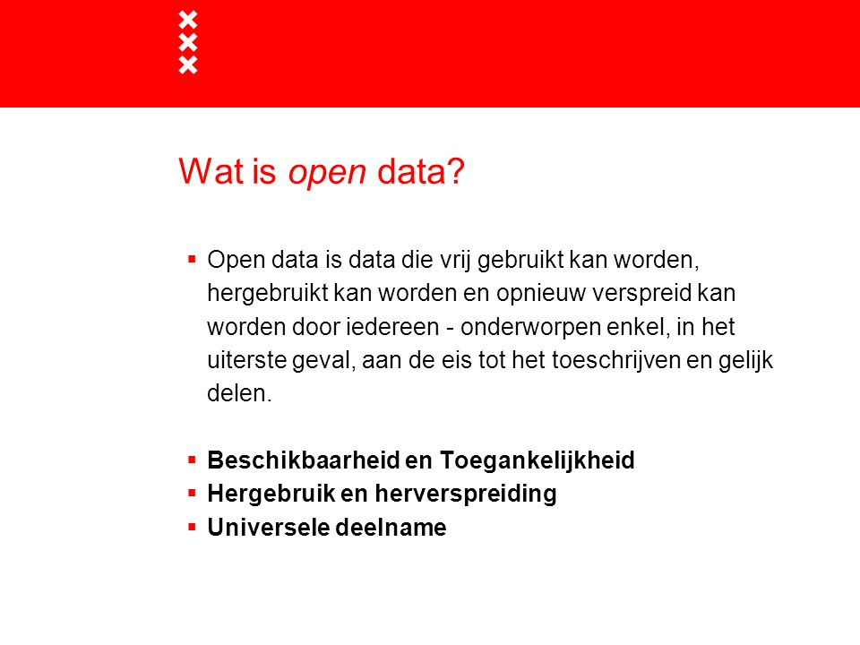 Wat is open data
