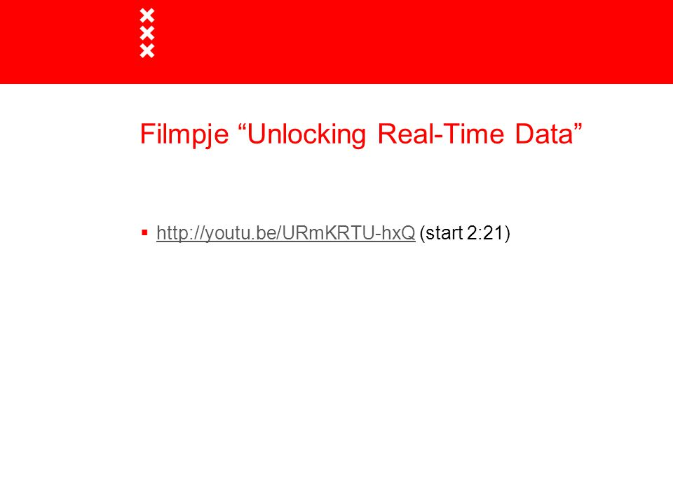 Filmpje Unlocking Real-Time Data