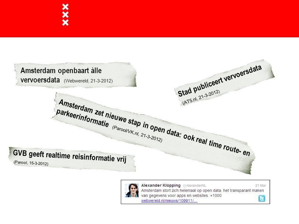 Amsterdam openbaart àlle vervoersdata (Webwereld, 21-3-2012)