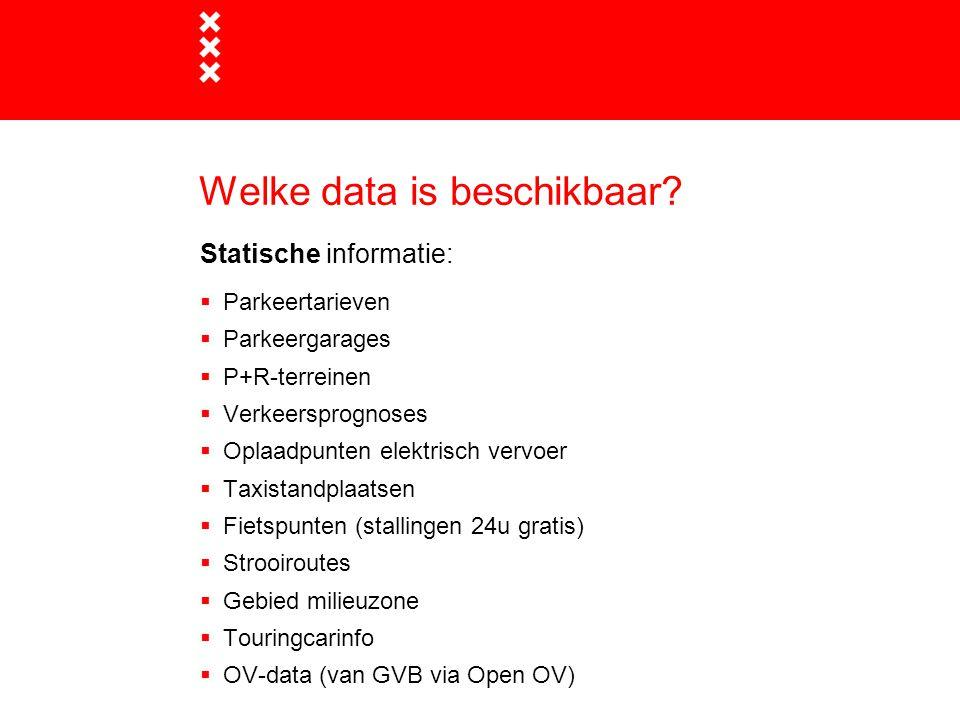 Welke data is beschikbaar