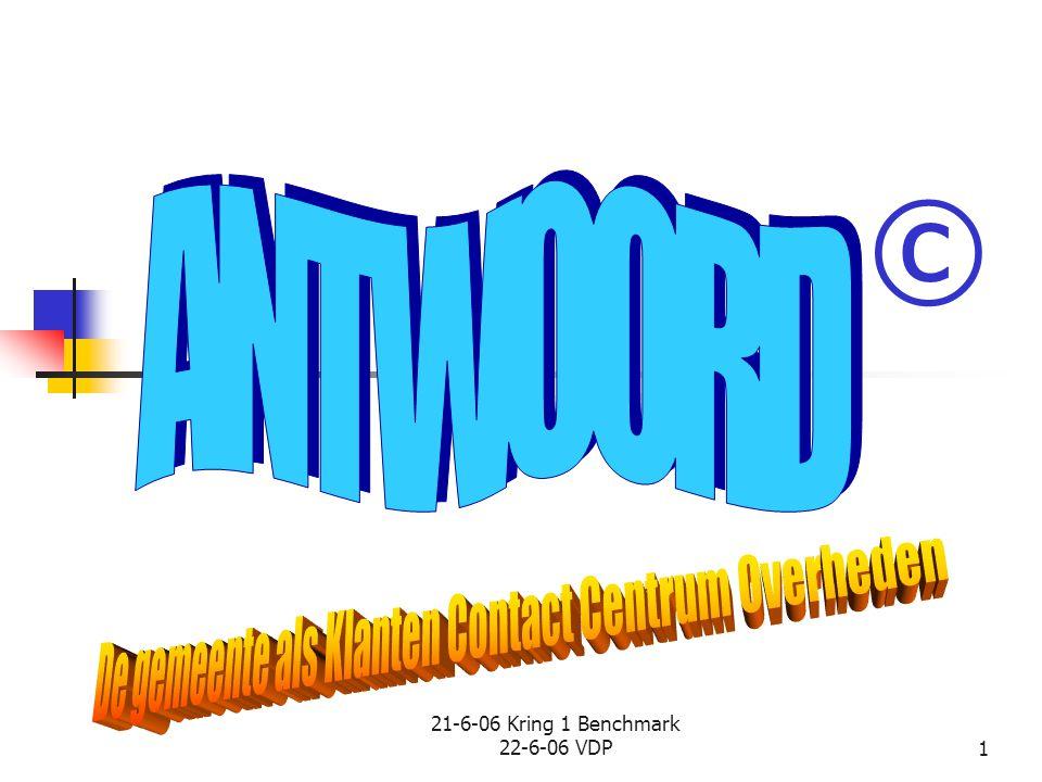 © ANTWOORD De gemeente als Klanten Contact Centrum Overheden
