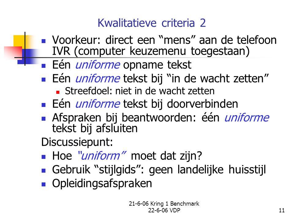 Kwalitatieve criteria 2