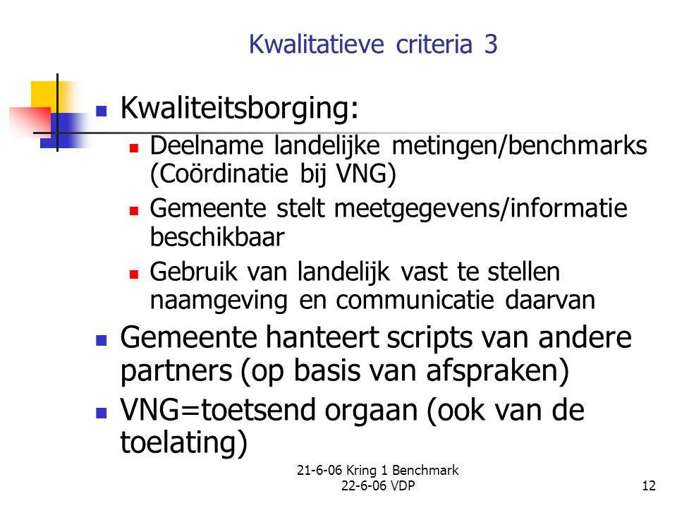 Kwalitatieve criteria 3