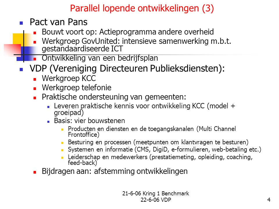 Parallel lopende ontwikkelingen (3)
