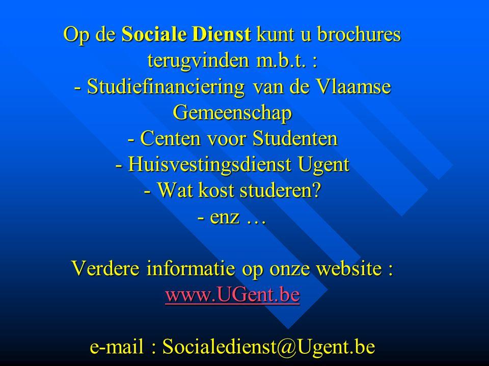 Op de Sociale Dienst kunt u brochures terugvinden m. b. t