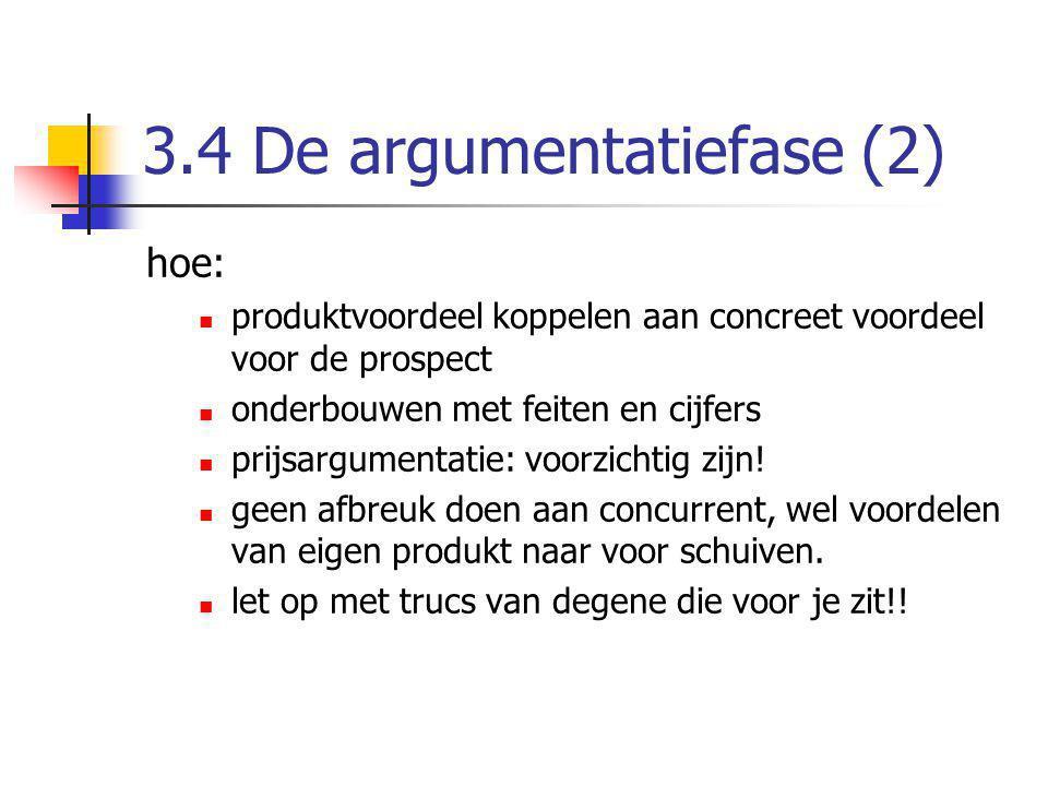 3.4 De argumentatiefase (2)