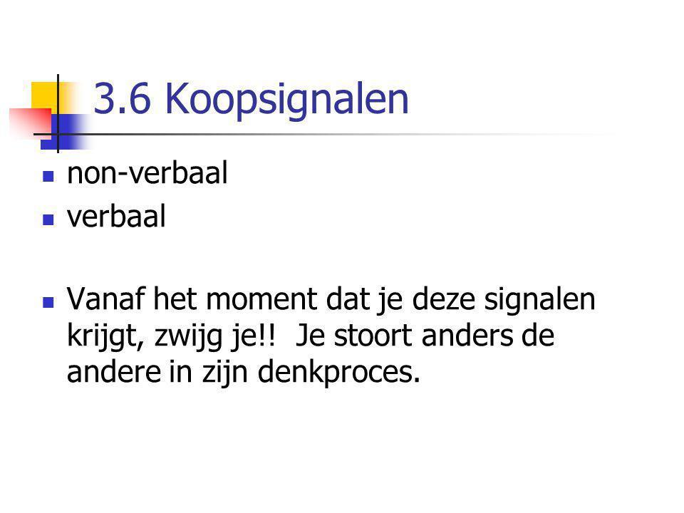3.6 Koopsignalen non-verbaal verbaal