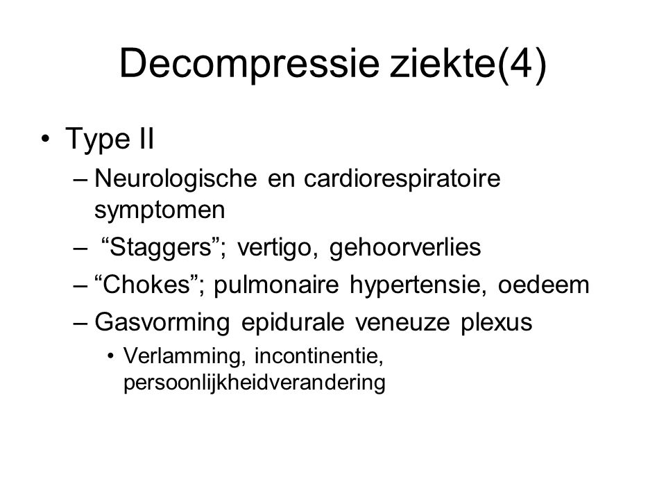 Decompressie ziekte(4)