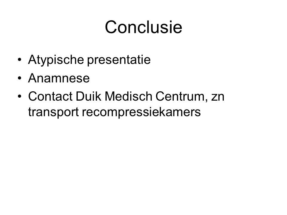 Conclusie Atypische presentatie Anamnese