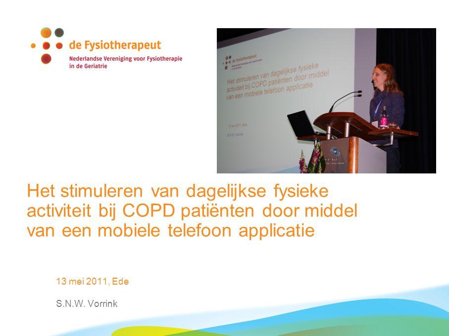Het stimuleren van dagelijkse fysieke activiteit bij COPD patiënten door middel van een mobiele telefoon applicatie