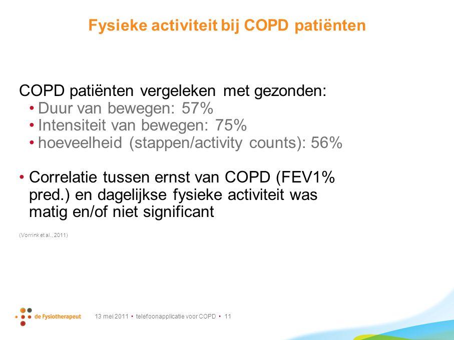 Fysieke activiteit bij COPD patiënten