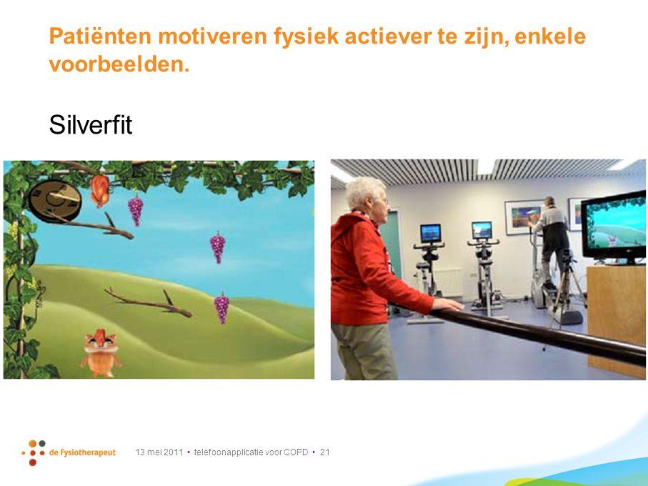 Patiënten motiveren fysiek actiever te zijn, enkele voorbeelden.