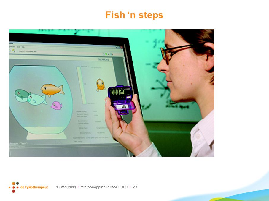Fish 'n steps Fish'n'Steps links an individual's step count to the emotional state, growth, and activity of a virtual fish in a.