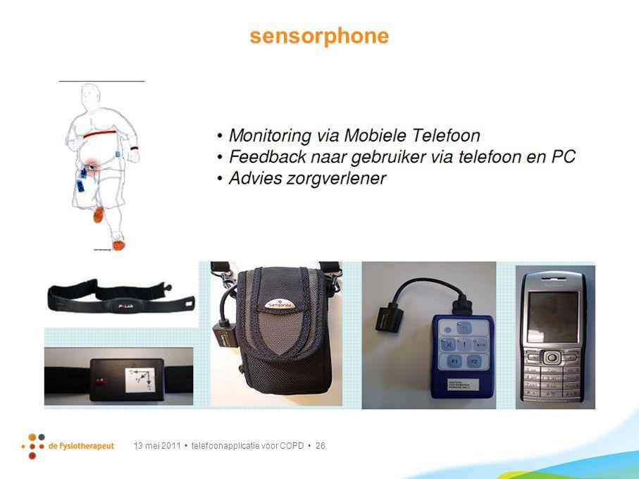 sensorphone Is al meer gericht op patient. Wel veel apparatuur om te dragen.