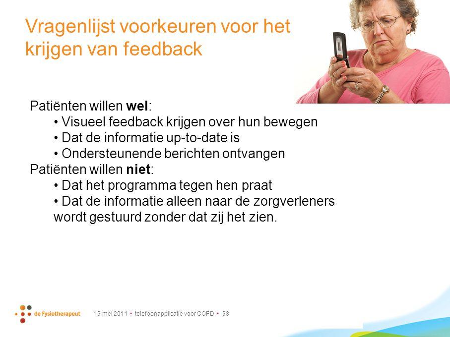 Vragenlijst voorkeuren voor het krijgen van feedback
