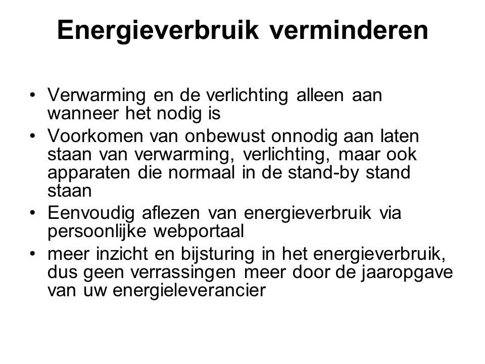 Energieverbruik verminderen